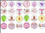 24 x Baby Princess Girls 2nd Birthday Edible Rice Wafer Paper Cup Cake Toppers